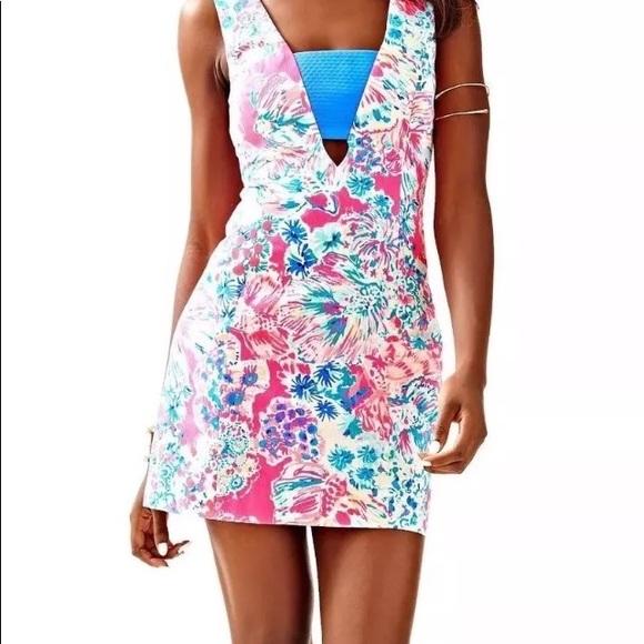 9232198f64e36b Lilly Pulitzer Dresses   Tiki Pink Gypsea Pink Cassa Dress   Poshmark